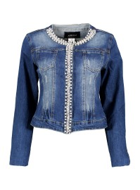 PARIS DENIM JACKET | PEARLS AND DIAMONTES