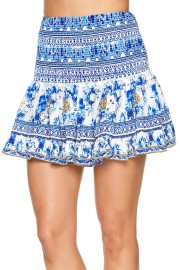 CAMILLA |SHORT SHIRRED SKIRT ST GERMAINE PRINT
