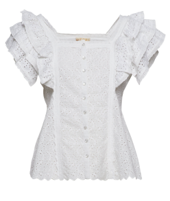 BY TIMO | ANGLAISE BLOUSE WHITE