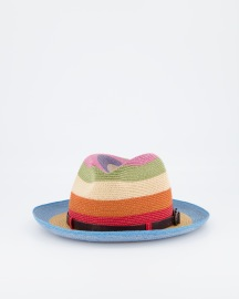 GREVI COLOUR STRIPE PANAMA HAT