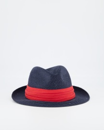GREVI BLUE PANAMA HAT