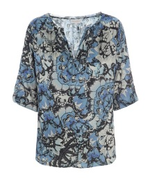 DEA KUDIBAL NATALI STRETCH SILK BLOUSE | PAPILLON BLUE