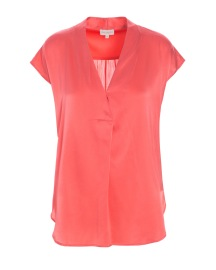 DEA KUDIBAL SIENNA STRETCH SILK BLOUSE | CORAL