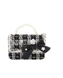PARIS PICKED TWEED BAG | BLACK & WHITE BAG |