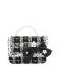 PARIS PICKED TWEED BAG | BLACK & WHITE BAG |