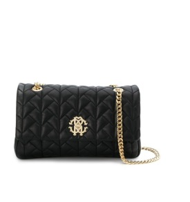 ROBERTO CAVALLI LOGO PLAQUE QUILTED SHOULDER BAG