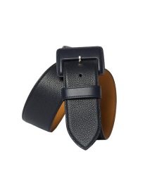 MAISON VAINCOURT BLACK CURVED WAIST BELT