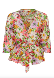 BY TIMO DELICATE SEMI WRAP BLOUSE