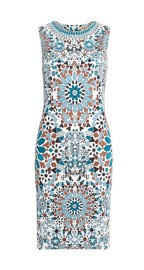 ROBERTO CAVALLI RIAD PRINT SLEEVELESS DRESS