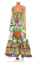 CAMILLA U-RING SILK MAXI DRESS |CHAMPAGNE COAST PRINT