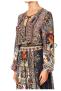 CAMILLA  SHIRRED RELAXED SHORT DRESS MARAIS AT MIDNIGHT