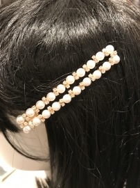 Pearl and Strass hair clip