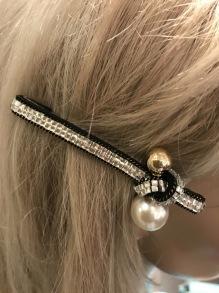 Strass Hair clip pearl detail