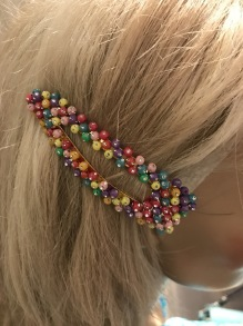 Multicolour hair clip