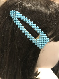 Tourquise bead hair clip