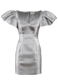 SARA BATTAGLIA SILVER MINI DRESS