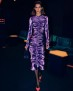 SARA BATTAGLIA VELVET DRAPING LONGUETTE DRESS