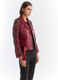 NOUR HAMMOUR FADEOUT LEATHER JACKET