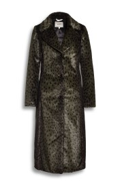 BEAUMONT | FAUX FUR LONG COAT | CHEETAH OLIVE