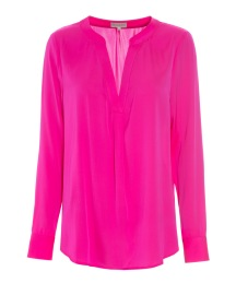 DEA KUDIBAL SANTENA  STRETCH SILK FUSHIA BLOUSE