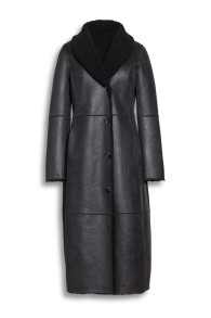 BEAUMONT | FAUX FUR REVERSABLE LAMBSKIN | BLACK