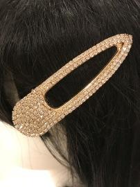 GOLDEN CRYSTAL HAIR CLIP