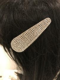 GOLDEN CRYSTAL HAIR CLIP MODERN