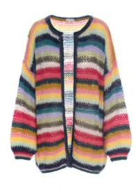 DEA KUDIBAL MOLLY MOHAIR CARDIGAN | MULTI STRIPE