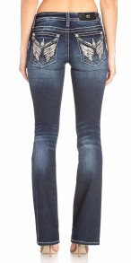 Miss Me Women's Tennessee Angel Wings Embellished Boot Cut Jeans