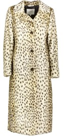 BEAUMONT FAUX FUR LONG COAT | GOLDEN CHEETAH