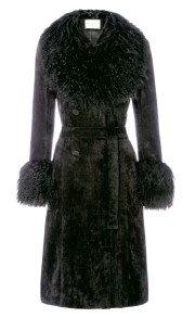 CHARLOTTE SIMONE PENNY COAT   BLACK