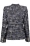 PARIS PICKED TWEED BLAZER|BLUE- BLACK