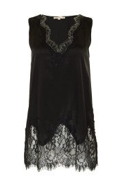 GOLDHAWK STRETCH SILK & LACE CAMISOLE | BLACK