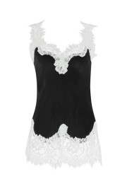 GOLDHAWK MEGAN SILK & LACE CAMISOLE | BLACK & DOVE