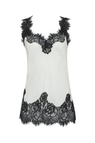 GOLDHAWK MEGAN SILK & LACE CAMISOLE | DOVE & BLACK