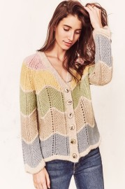 LOVESHACKFANCY DEENA CARDIGAN | RAINBOW