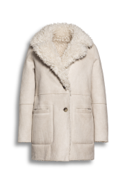 BEAUMONT | FAUX FUR REVERSIBLE LAMBSKIN | CREAM