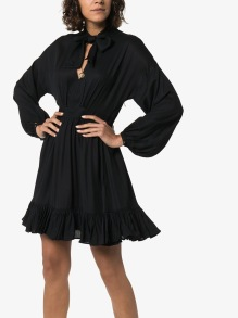 BY TIMO PUSSY BOW BLACK MINI DRESS
