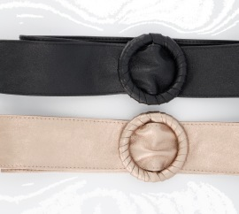 PARIS PICKED LEATHER BELTS