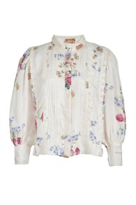 LOVESHACKFANCY TEGAN SILK BLOUSE