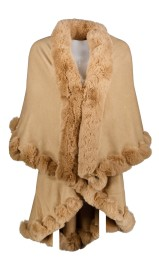 PARIS PICKED CAPE DOUBLE LENGTH| BEIGE
