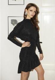RAVN VANNA GLITTER DRESS | BLACK