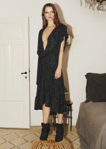 RAVN RAVN BRIELLE GLITTER DRESS | BLACK