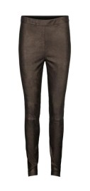 DEA KUDIBAL SAINT STRETCH LEATHER TROUSERS| GOLD