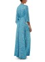 MELISSA ODABASH BLUE LEAF BELTED MAXI DRESS