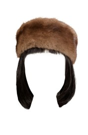 DEAUVISION MINK HEADBAND | BEIGE / BROWN
