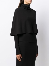 SARA BATTAGLIA CAPE DETAIL ROLL NECK JUMPER