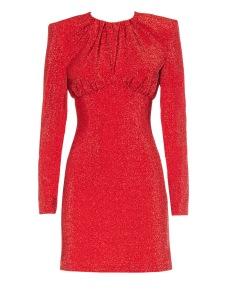 SARA BATTAGLIA RED LUREX MINI DRESS
