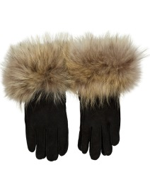 HANDMADE SHEEPSKIN GLOVES WITH FOX CUFFS