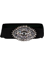 HELEN ZUBELDA CRYSTAL STRETCH BELT | DIAMOND